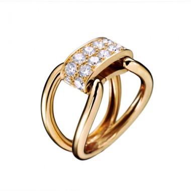 Bague PARIS207 Diamant Or jaune Lien interchangeable