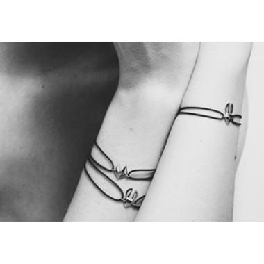 Bracelet Or Gris cordon Lièvre